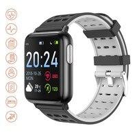 V5 Smart Uhr EKG + PPG + Spo2 Monitor Sport Modus Kalorien Telefon SMS Erinnerung Sitzende Wecker SmartWatch