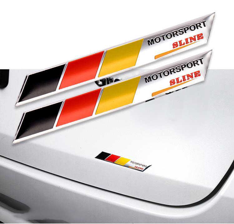 Audi Drapeau Allemand Fade Quattro Côté Jupe//Porte Stickers Autocollants X2 VAG
