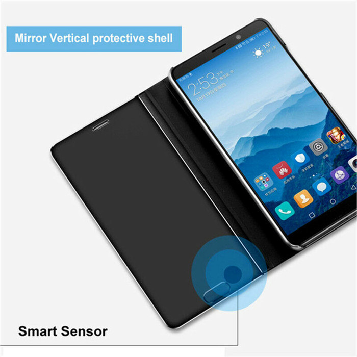 Clear View Window Smart Mirror Flip Case For Huawei Honor 20 Pro 8S 8A 8C V20 V10 8X MAX Play Note 10 stand Leather Back Cover in Fitted Cases from Cellphones Telecommunications
