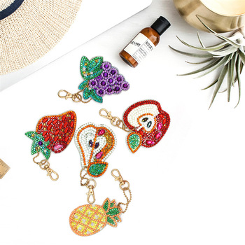 HUACAN Special Shaped Diamond Painting Keychain 2019 New Diamond Embroidery Keyring Bag Diamond Mosaic
