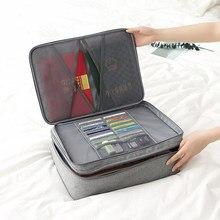 Katyonik bez seyahat belge çantası ile belgesi depolama Ipad pasaport organizatör kılıfı İş pasaport tutucu aksesuarları