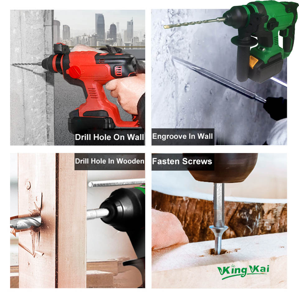 Electric Cordless Brushless Samsung Battery Impact Hammer Drill (11)
