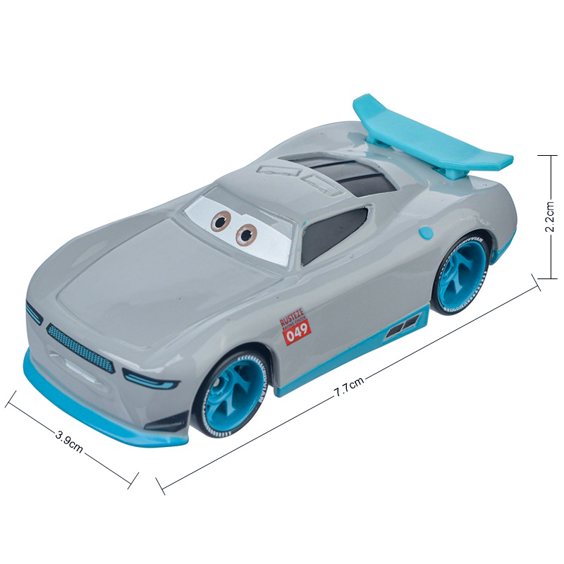 Cars Disney Pixar Cars 3 Lightning McQueen Jackson Storm The King Mater 1:55 Diecast Metal Alloy Model Car Toys For Boy Gifts