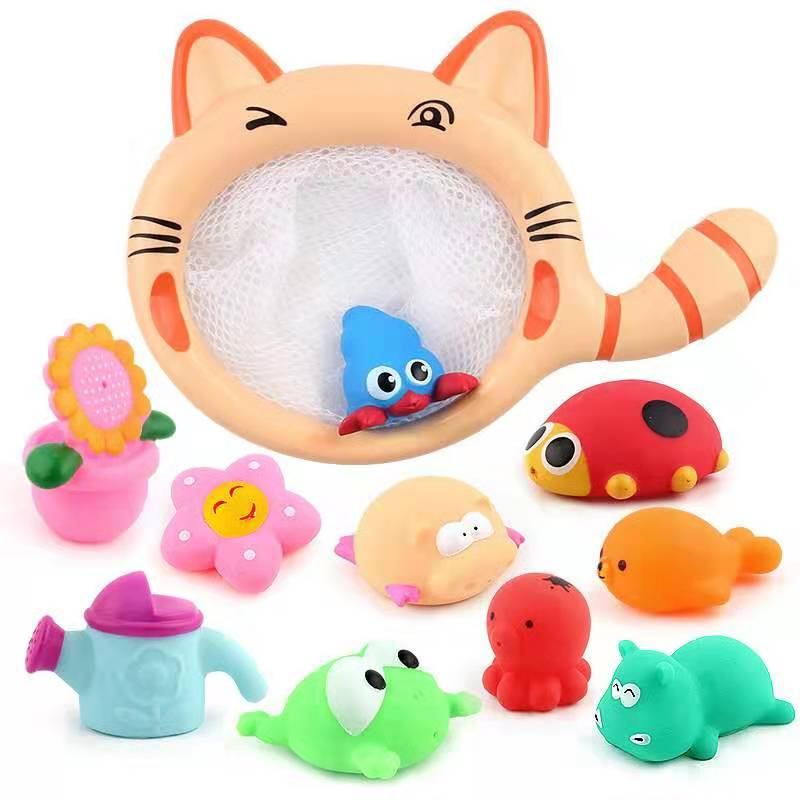 Children Fishing Rubber Toys Baby Bathing Toys Animal Toys Kids Toy