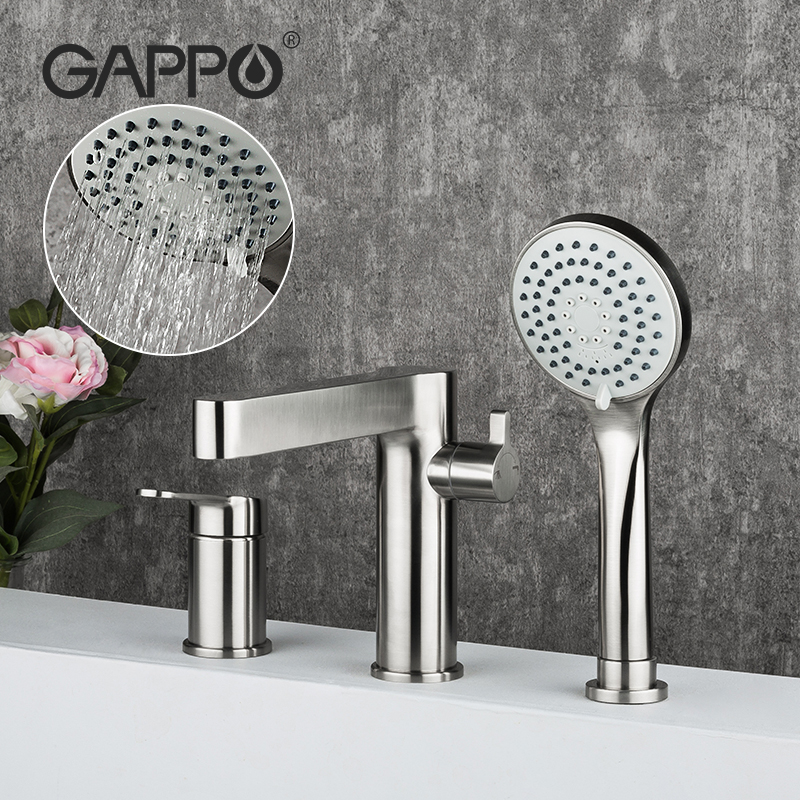 GAPPO Split Bathroom Bathtub Faucet stainless steel Bath Shower Tap split Shower Head Wall Mixer Tap
