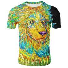 Camiseta con estampado de animales para hombre, camiseta 3D, ropa deportiva de moda de otoño, top urbano