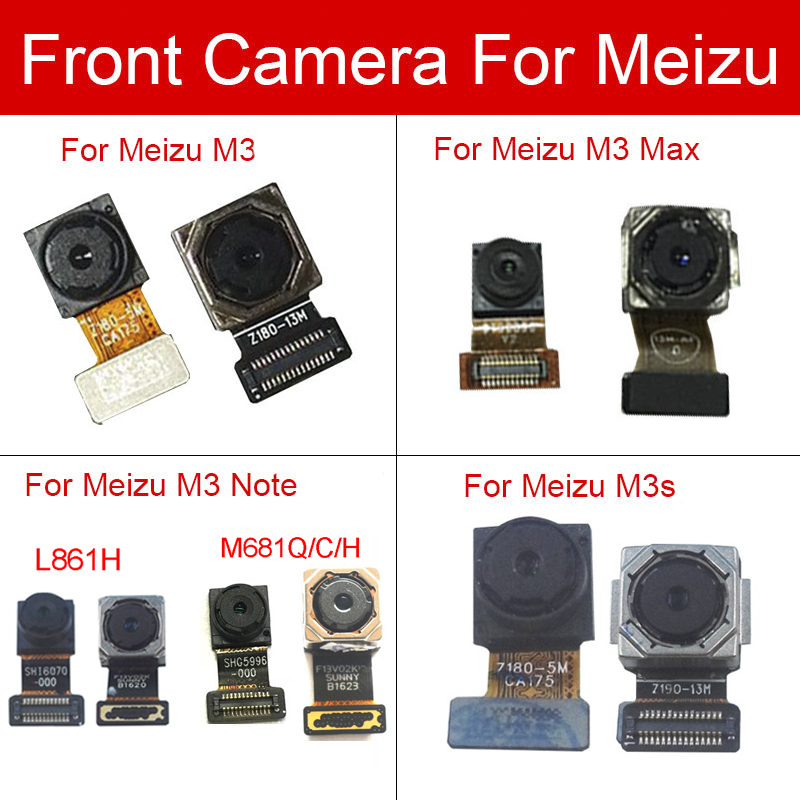 Front & Rear Main <font><b>Camera</b></font> For <font><b>Meizu</b></font> m3 <font><b>m3s</b></font> Max note L861H M681Q M681C M681H Back Big Samll <font><b>Camera</b></font> Flex Cable Replacement image
