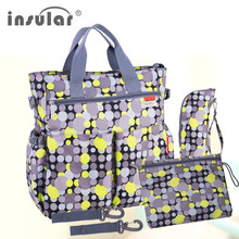 High Quality Multicolored Dot Maternity Mother Nappy Stroller Bag Multifunctional Big Mummy Shoulder Baby Diaper 45