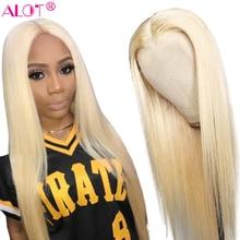 Blonde 4x4 Lace Closure Wig Brazilian Straight 613