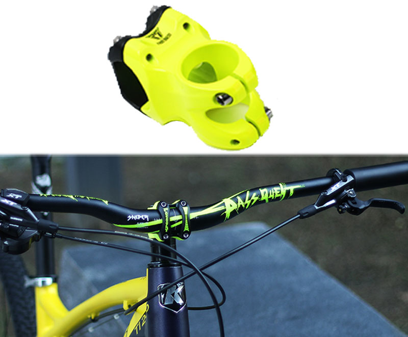 PASS QUEST alloy Bicycle stem DJ/AM/FR/DH Downhill Mountain Bike 0 degree 45MM Stem for XC AM MTB