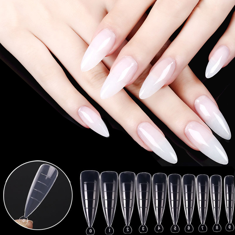 120/60 шт./кор. Прозрачная форма для наращивания ногтей, форма для быстрого наращивания ногтей для полигеля для ногтей, для дома и магазина, сал...