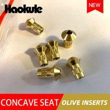 Accesorios de freno HAOKULE, insertos cóncavos para asiento de oliva