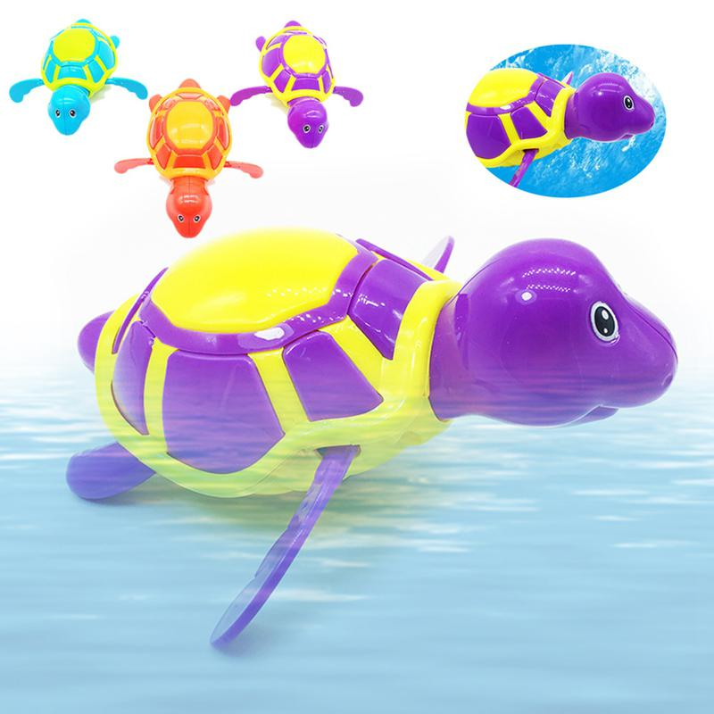 Swimming Turtle Baby Bath Toys Bathing Animal Beach Kids Toys For Children Baby Shower Games Toddler Boy Girl Bath Water Toys image