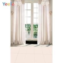 Indoor White Curtain Window Marble Floor Scene Baby Portrait Photo Background Custom Wedding Photo Backdrop For Photo Studio