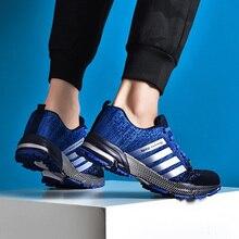 2019 جديد الرجال حذاء كاجوال تنفس الجري أحذية رياضية الرجال موضة الصيف الرجال فلكنيز أحذية كبيرة الحجم تنيس masculino 35 48