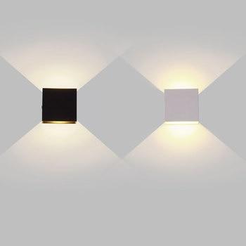 6W 12W lampada LED Aluminium wall light rail project Square LED wall lamp bedside room bedroom wall decor arts