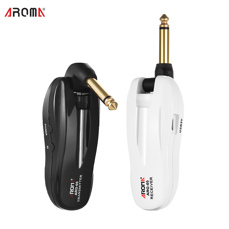 Guitar Wireless System Audio Transmission with Transmitter and Receiver Rechargeable 5 8GHz for Electric guitars Drum