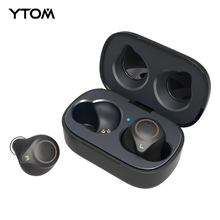 Original TOM T1 AptX บลูทูธไร้สายสเตอริโอไร้สาย 5.0 หูฟัง CVC8 Super BASS ชุดหูฟังพร้อมไมโครโฟน