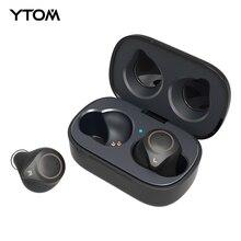 מקורי YTOM T1 AptX אמיתי אלחוטי סטריאו Bluetooth 5.0 אוזניות CVC8 סופר בס אוזניות אוזניות עם מיקרופון