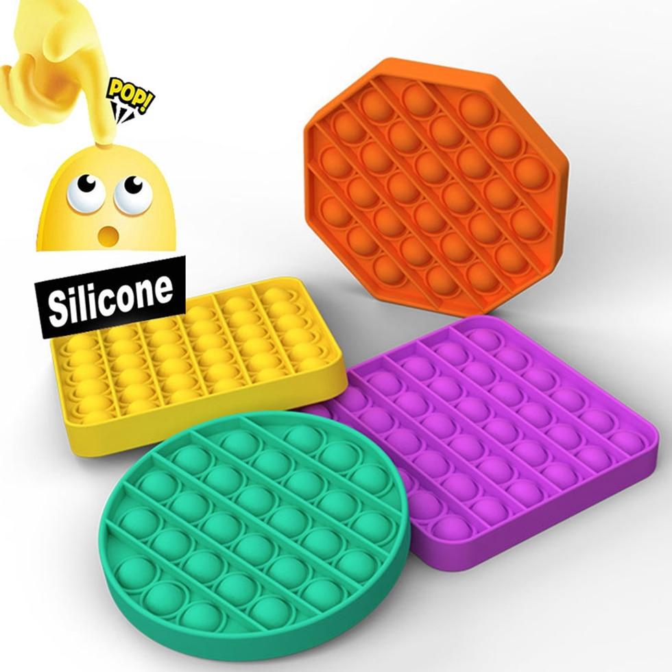 Pop It Fidget Toys Simpel Dimpel Popit Push Bubble Sensory Adult Stress Relief Tabletop Anti Stress Soft Squeeze Antistress Toy img2