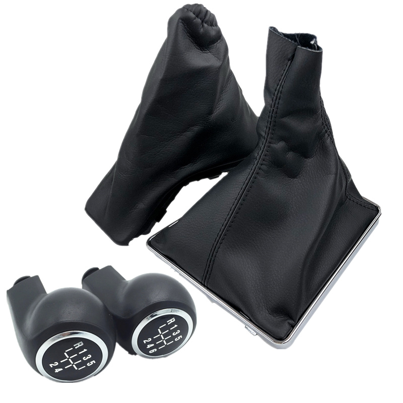 Manopla de freio para opel astra h, alavanca de câmbio, bota de freio a mão, antiderrapante capa estojo colar