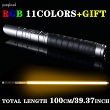 pqbd RGB Lightsaber Cosplay Personalized Metal Handle Saber With Sound 11colors Change LED Light Stick Laser Sword Toy Gifts