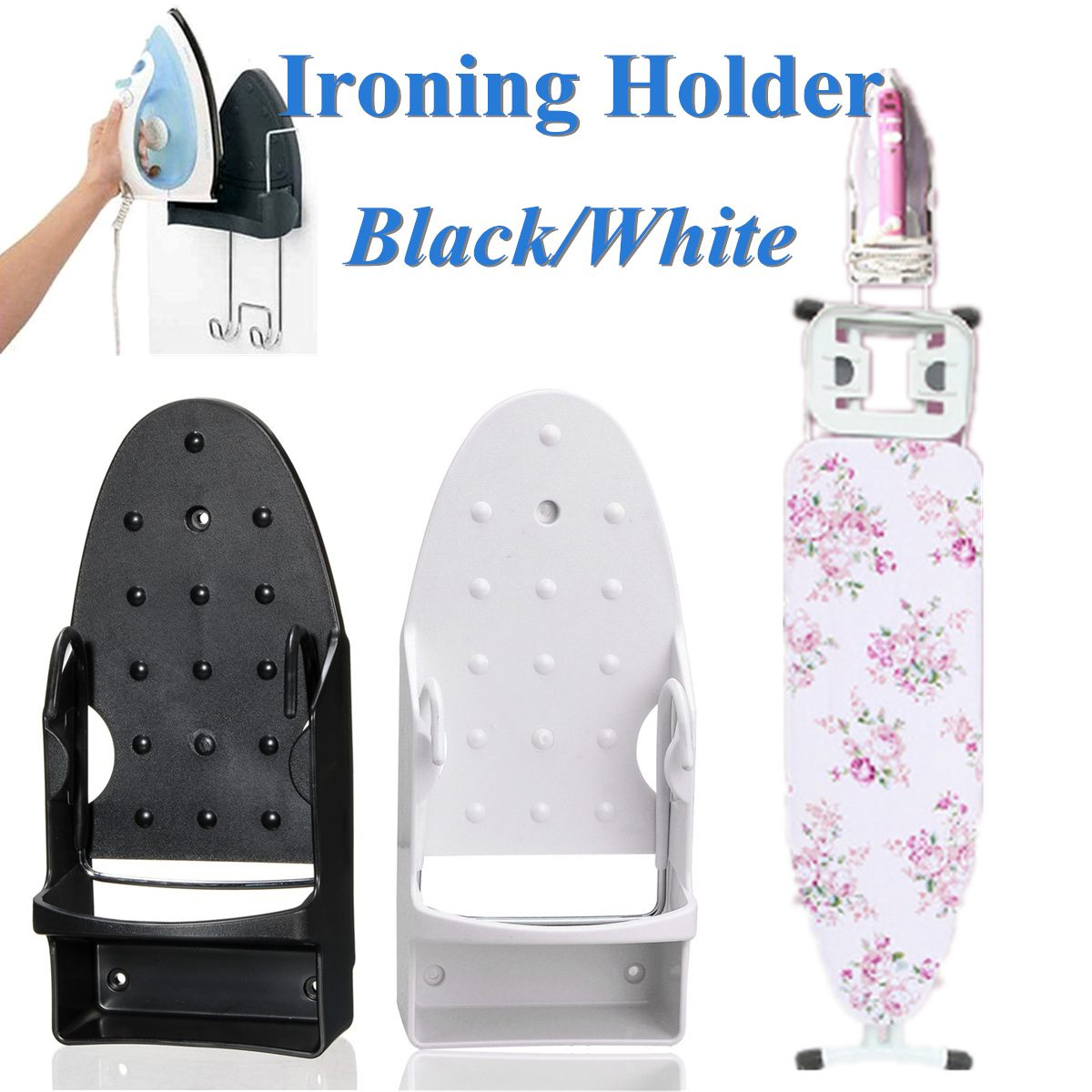 Wall Mounted Electric Iron Storage Rack Rest Stand Heat-Resistant Rack Hanging Ironing Board Holder Home Dryer Accessories