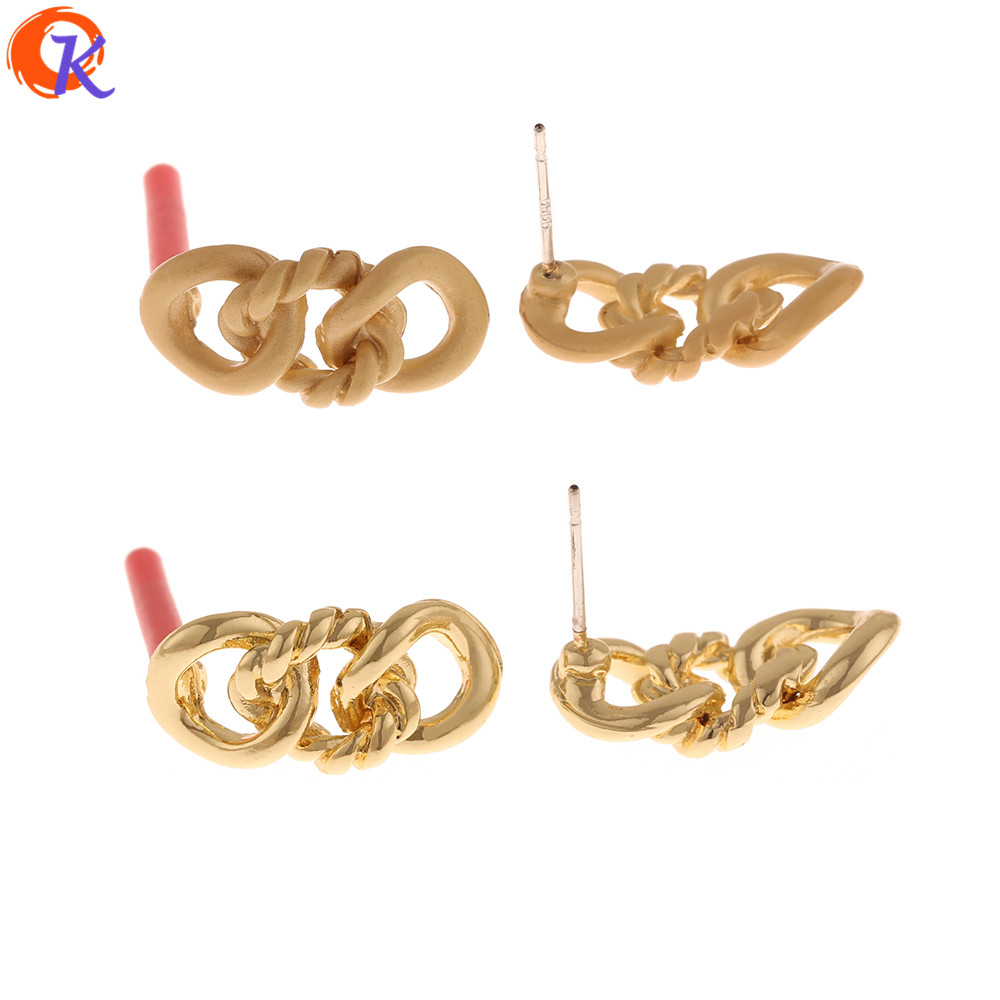 Cordial Design 100Pcs 9*19MM Earrings Stud/Jewelry Accessories/Hand Made/Chain Shape/DIY Parts/Jewelry Making/Earring Findings