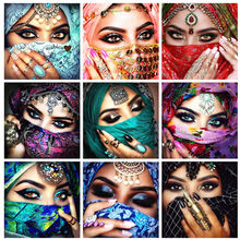 Azqsd алмазная вышивка женщина рукоделие мозаика люди картина