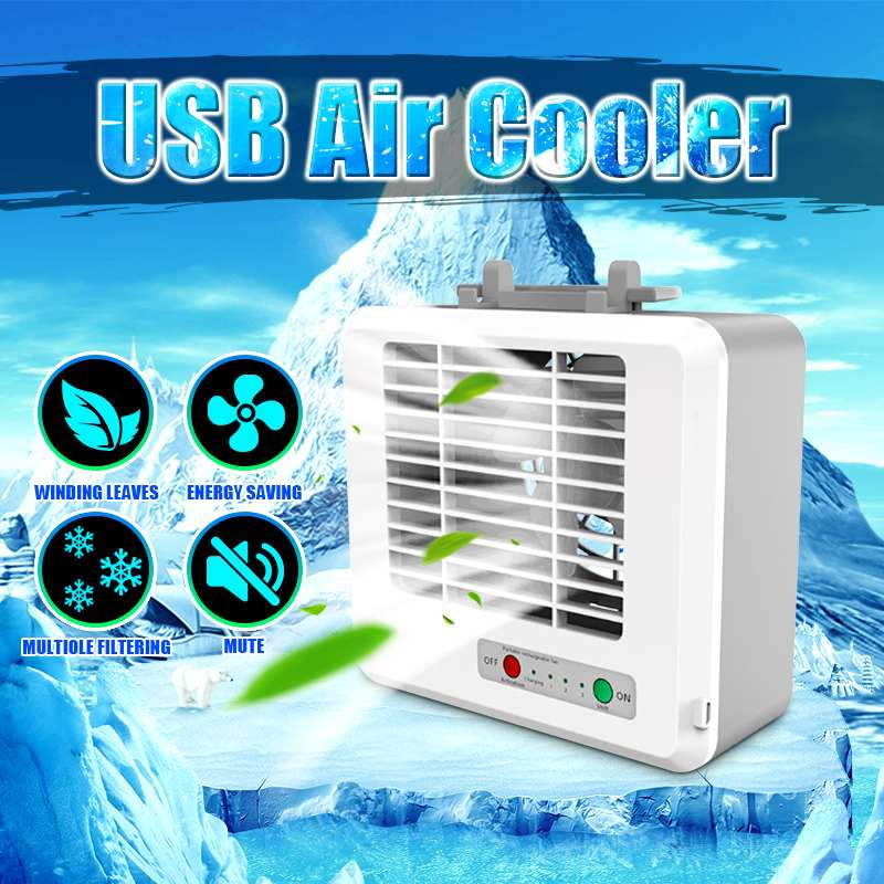 USB Portable Air Conditioner Conditioning Humidifier Purifier Personal Arctics Air Cooler Cooling Fan For Home Office Desk