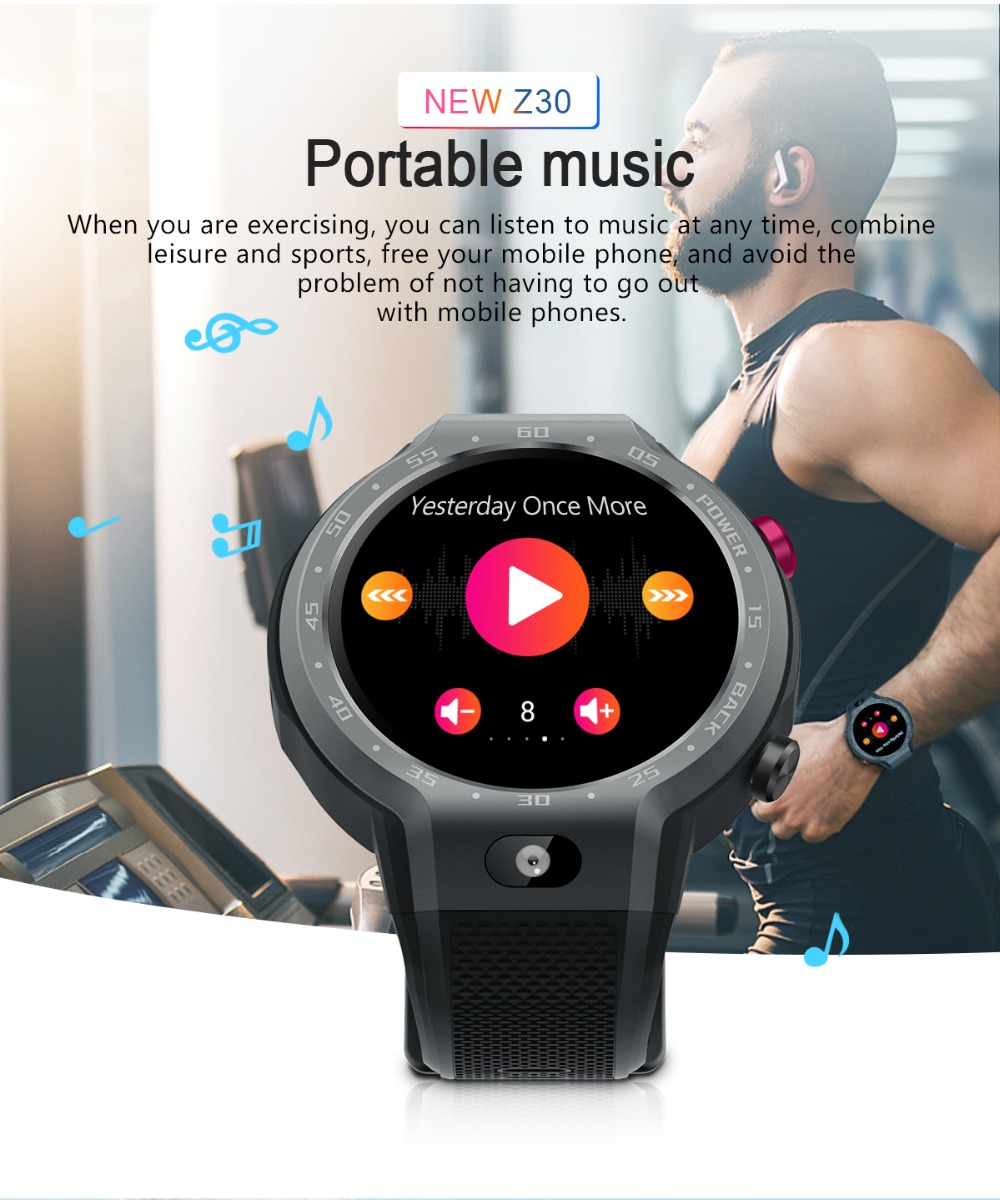 TORNTISC Z30 Dual Systems 4G Smart Watch phone Android 7.1 5MP Front Camera 600Mah Battery Support GPS WIFI Heart Rate Smartwatch PK LEM9 Presale (9)