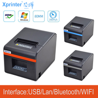 New arrived 80mm auto-cutter thermal receipt printer POS printer with USB/Ethernet /USB+Bluetooth port