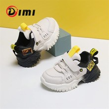 DIMI 2020 New Autumn Baby Sneaker Soft Leather Breathable Infant Toddler Shoes Light Non-Slip 0-3 Year Boy Girl Walkers Shoes