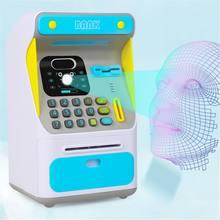 Banco de dinero pequeño para niños y adolescentes, con cerradura electrónica, reconocimiento facial, 2021