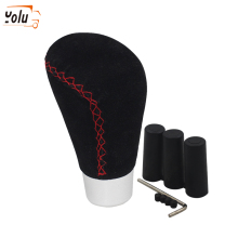 YOLU Universal Scrub Leather Gear Shift Knob Shifter Stick Lever Car-Styling for Most Of the Manual Transmission Cars