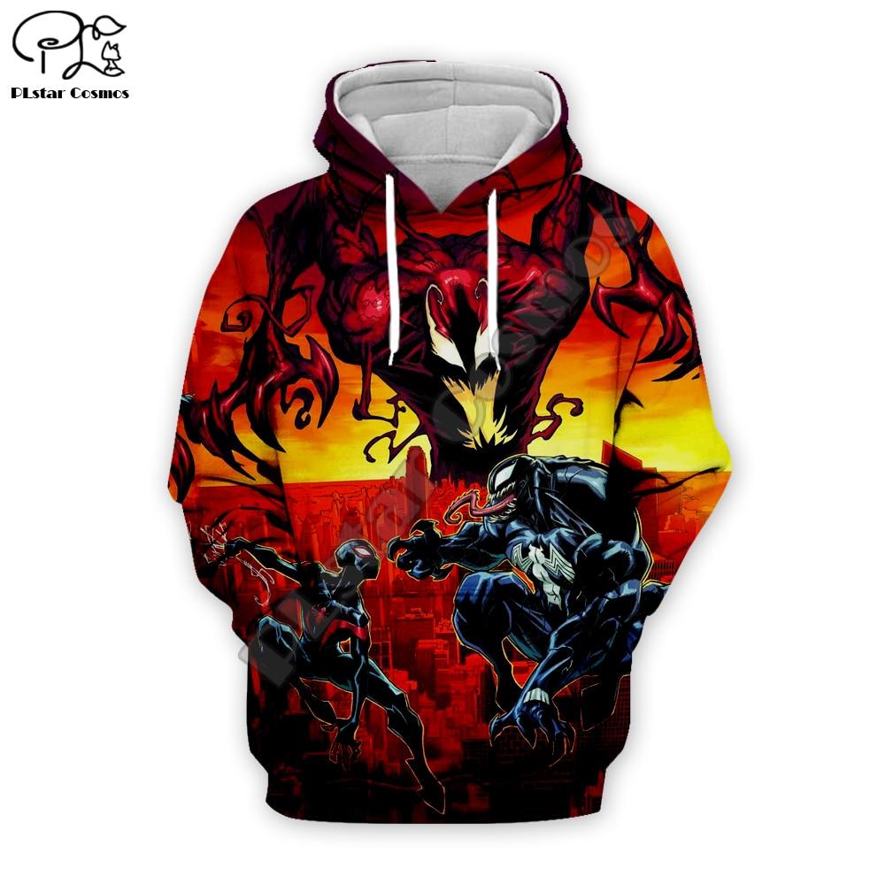 Superhero Venom Hoodies Mannen Vrouwen dragon ball Sweatshirts Cool Spider man 3d Hoodie Hip Hop Hooded Streetwear Tops VE 024 in Hoodies amp Sweatshirts from Men 39 s Clothing