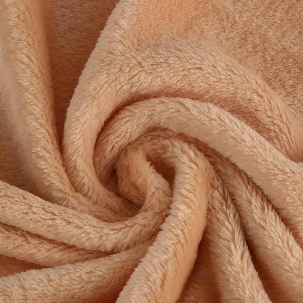 Manta de Color sólido de lana de Coral cómoda cama de dormir en casa sofá Manta