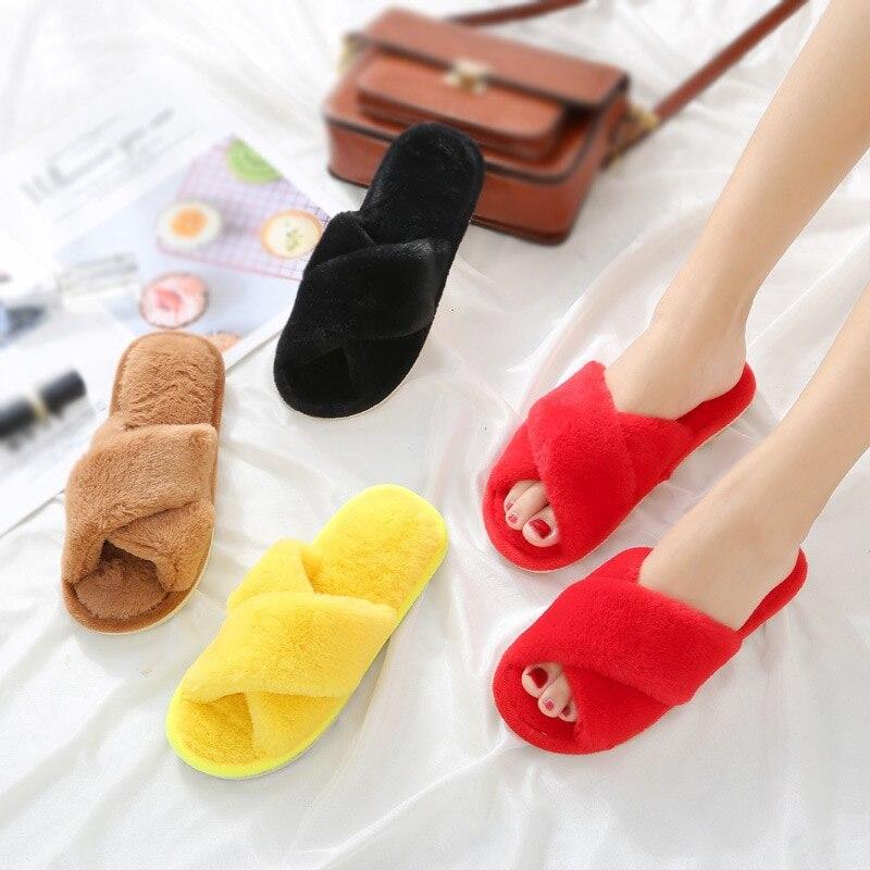 Хлопковые женские домашние модные туфли на толстой подошве в Корейском стиле; Домашние Нескользящие теплые шерстяные тапочки на мягкой подошве; 2020|Тапочки|   | АлиЭкспресс