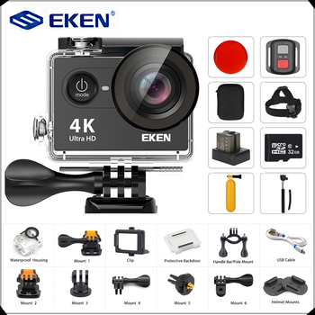 Oryginalny EKEN H9 H9R kamera akcji ultra hd 4 K 25fps WiFi 2 0 #8222 170D aparat podwodny wodoodporna kamera kamera na kask kamera sportowa tanie i dobre opinie O 12MP Seria OmniVision SPCA6350M (1080 P 60FPS) F2 0 101g-150g 60*42*20mm 2 0 170 ° 1050mAh Extreme Sports Obsługuje WIFI