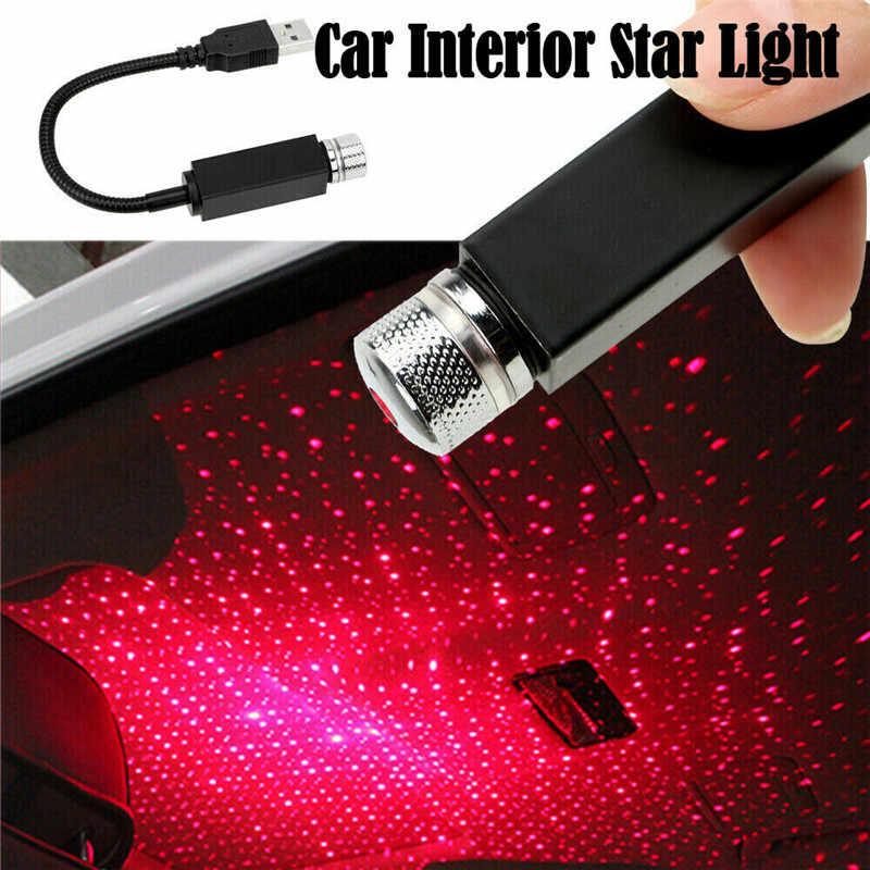 Plug and Play - Car and Home Ceiling Romantic USB Night Light Party Xmas USB Mini LED Car Roof Lights Projector Lamp