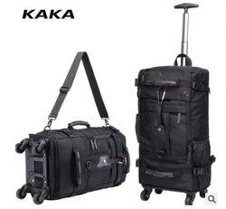 KAKA Männer Reise trolley rucksack Roll Gepäck rucksack taschen auf rädern rädern rucksack für Business Kabine Reise trolley taschen