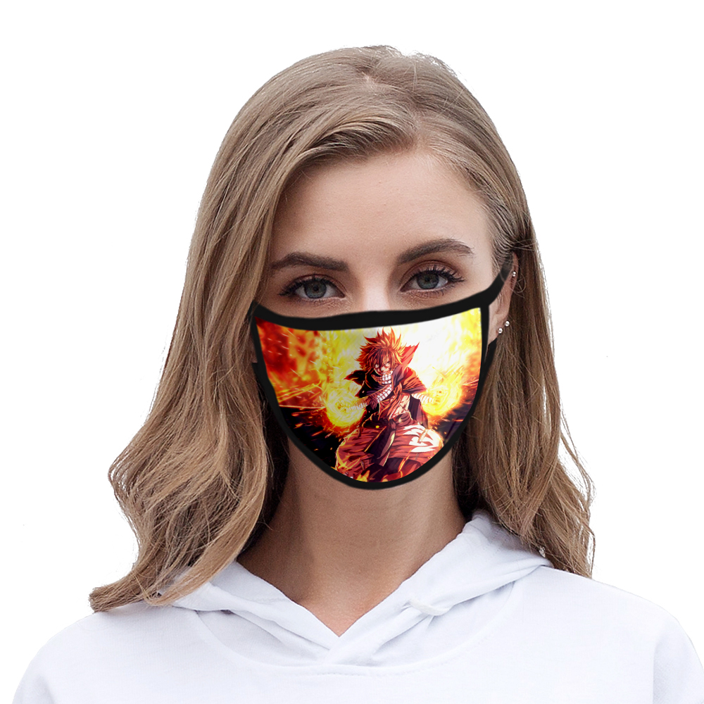2020 Hot Face Mask Fairy Tail Anime Fashion Harajuku High Quality Hip Hop Washable Mask 3D Print New Style Fairy Tail Mask