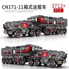 3712pcs The Wandering Earth Building Blocks Toys Technic City Flint Carrier Car Figures Bricks For Children Gifts