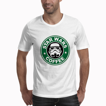 New Arrival Cool T Shirt Funny Star Wars COFFEE Printed T-shirt Men's Short Sleeve O-Neck Streetwear HipHop Summer Tops Tee