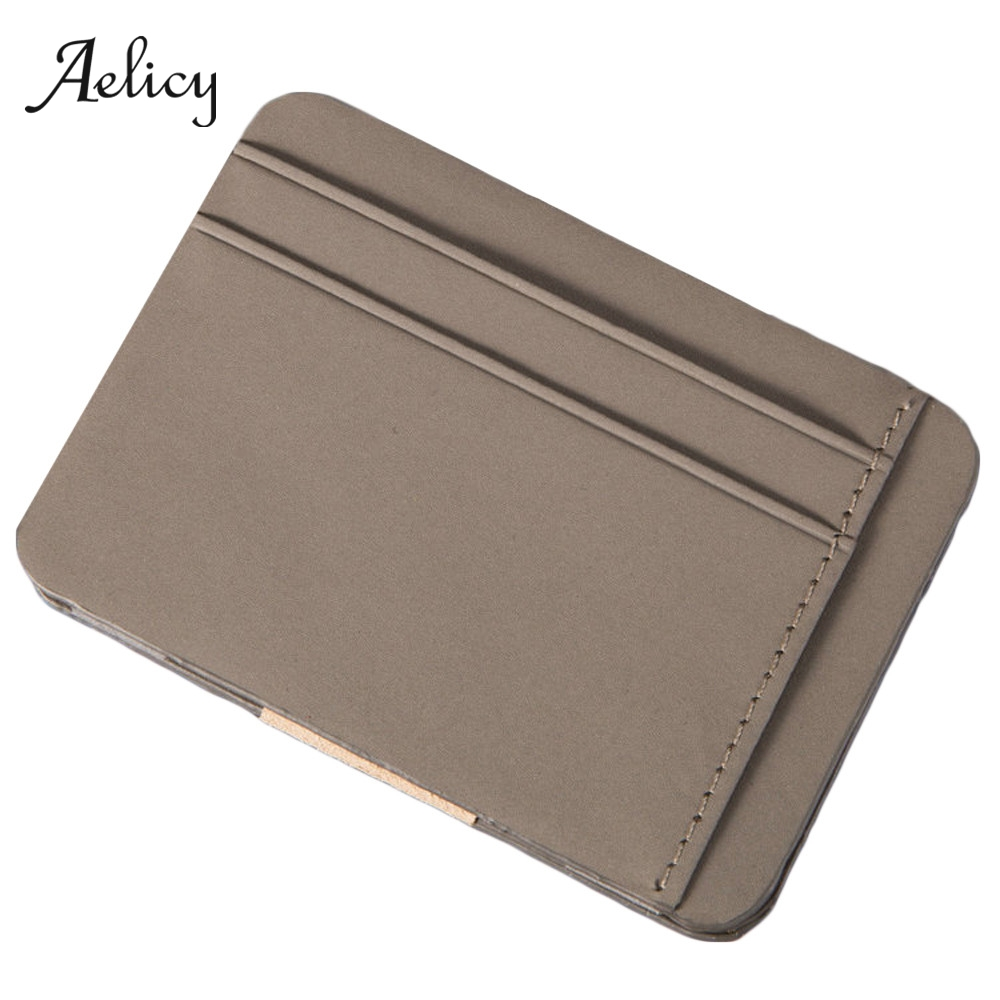 Aelicy Slim Wallet Purses Coin-Pouch-Bag Card-Holder Business Zipper Credit Fashion Clutch