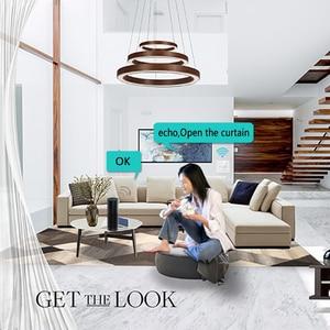 Image 5 - Interruptor de cortina inteligente Wifi para persianas, reloj con temporizador, persiana, Motor Tubular, funciona con Alexa Echo, asistente de Google Home, IFTTT