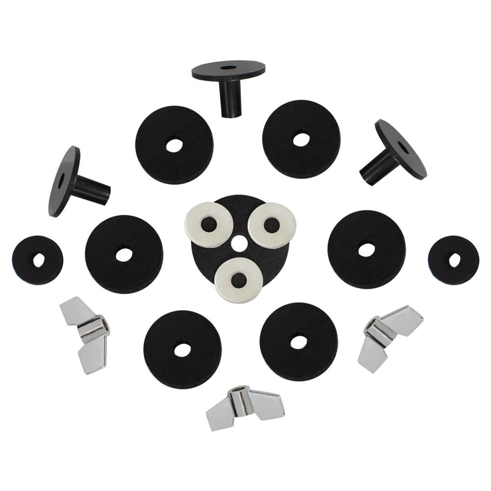 SLADE 18pcs Drum Accessories Set Wing Nuts Knob Screw Gasket Washers Wool Mat Drum Replacement Parts