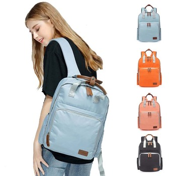Leisure backpack Travel bag Diaper bag Thermos bag Portable Mummy bag Baby nursing bag Buckle Pure color backpack travel bag diaper bag thermos bag portable mummy bag pure color baby nursing bag buckle style bebe accessories