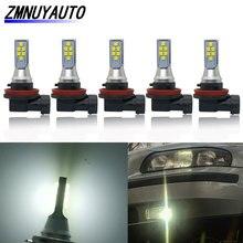 5 قطعة Led السيارات H11 H8 الضباب ضوء السوبر مشرق 12SMD 3535 رقاقة الأبيض 6500K مصابيح سيارة القيادة تشغيل أضواء 12 فولت