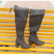black for red women long Womens shoes Sexy High Elastic Overknee boots